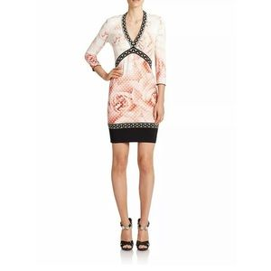 ROBERTO CAVALLI Abito Knitted Floral Jersey Dress